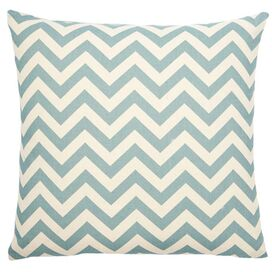 Chevron Pillow in Light Blue