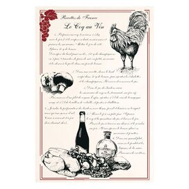 Coq au Vin Tea Towel