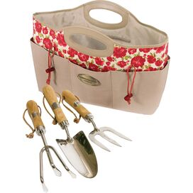 4 Piece Laura Ashley Garden Tool & Bag Set