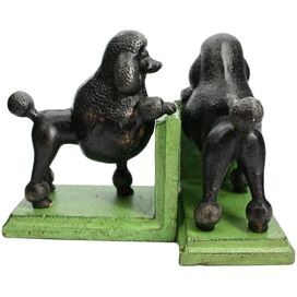 2 Piece Gomez the Poodle Bookend Set