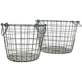 2 Piece Darby Round Basket Set