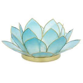 Lotus Tealight Holder in Turquoise