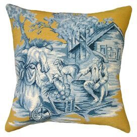 Country Toile Pillow