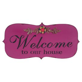 Welcome to our House Wall Plaque