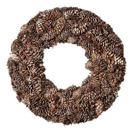 Faux Snowdrift Pinecone Arrangement