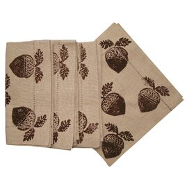 Acorn Dinner Napkin in Ecru