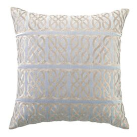 Nautical Knot Pillow in Blue