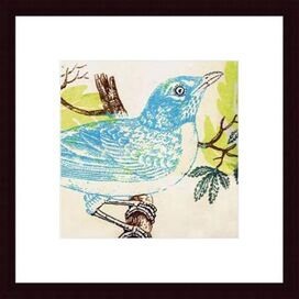 Bluebird Framed Wall Decor