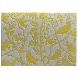 Aviary Note Cards in Yellow - Set of 12