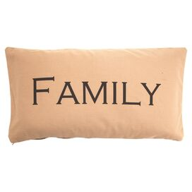 Family Pillow in Khaki
