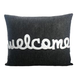 Alexandra Ferguson Welcome Pillow in Charcoal