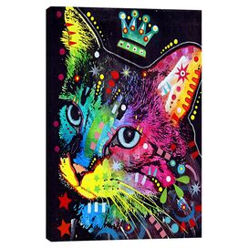 Crowned Cat Canvas Print