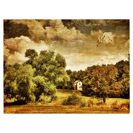 Old Farmhouse Canvas Giclee Print