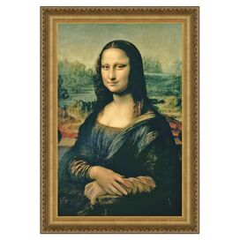 Mona Lisa Framed Canvas Print