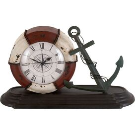 Anchors Away Table Clock