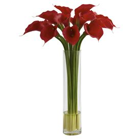 Faux Calla Lily Arrangement I