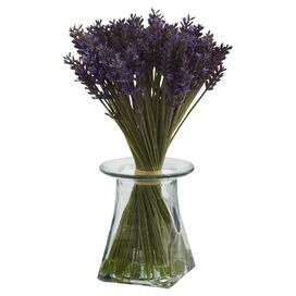 Faux Lavender Bundle in Vase