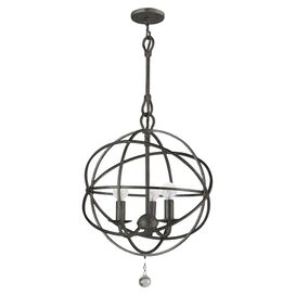 Solaris 3-Light Pendant in Bronze