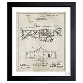Oliver Gal & Co. Wright Flying Machine Framed Print