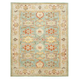 Alya Rug in Light Blue and Beige