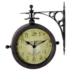 Charleston Wall Clock & Thermometer