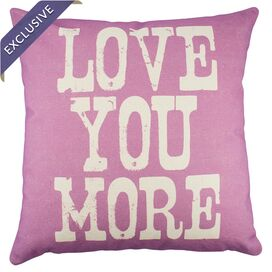 Love You More Pillow in Rose