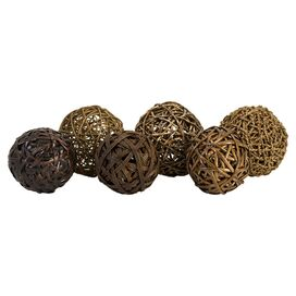 6-Piece Liv Decorative Orb Set