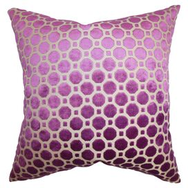 Kostya Velvet Pillow in Magenta