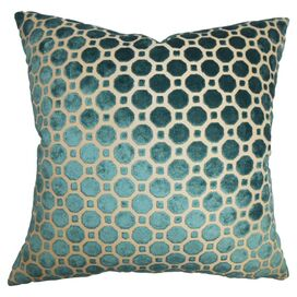 Kostya Velvet Pillow in Turquoise