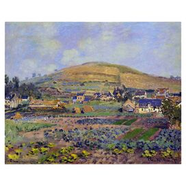 Mount Riboudet in Spring by Monet Canvas Print