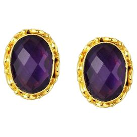 Alayna Earrings in Amethyst