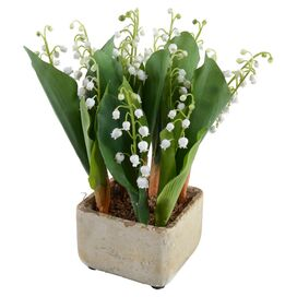 New Growth Designs Faux Lily of the Valley Arrangement