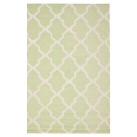 Delia Rug in Light Green