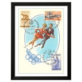 Pairs Figure Skating Framed Print