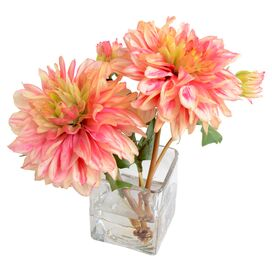 New Growth Designs Faux Dahlia Arrangement I