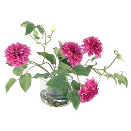 New Growth Designs Faux Clematis Arrangement in Fuchsia