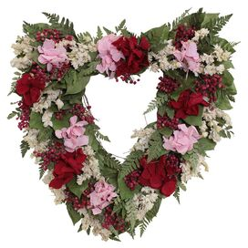 Preserved Romance Heart Wreath