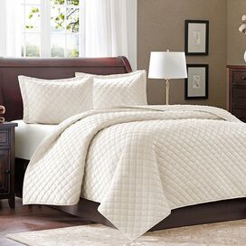 3-Piece Cristina Coverlet Set in Ivory