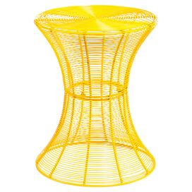 Zada Indoor/Outdoor End Table in Yellow