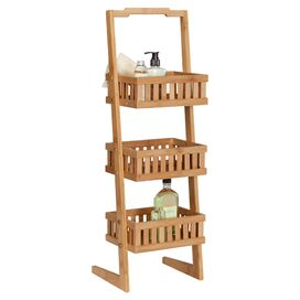 Laurel Bamboo Storage Shelf