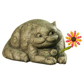 Friendly Cat Garden Statuette