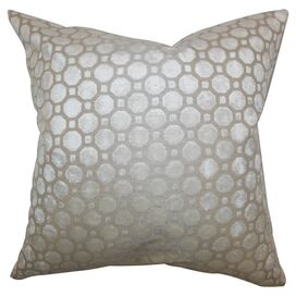 Anna Velvet Pillow in Pearl