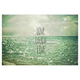 Love Laugh Live Wall Art