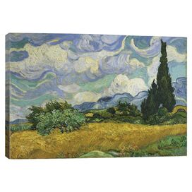 Wheatfield with Cypresses by Van Gogh Canvas Print