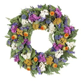 Preserved Mixed Wildflower Wreath