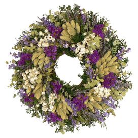 Preserved Mixed Lavender Wreath