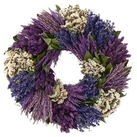 Preserved Mixed Patchwork Garden Wreath