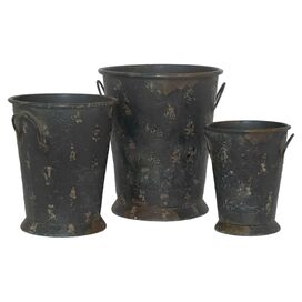 3-Piece Dickens Planter Set