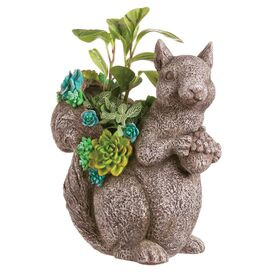 Sitting Squirrel Planter