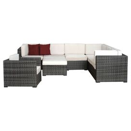 8-Piece Marseille Seating Group Set in White